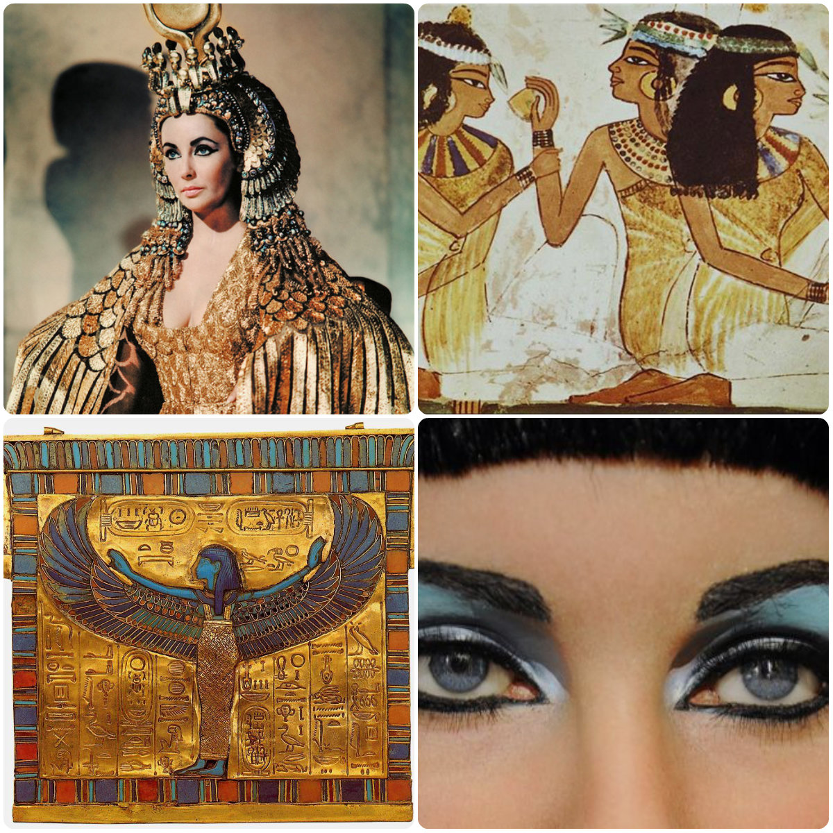 history of cosmetics The first use of prototype cosmetics is usually traced back to the ancient egyptians many egyptian tombs contained makeup canisters and kits cleopatra used lipstick that got its hue from ground carmine beetles, while other women used clay mixed with water to color their lips.