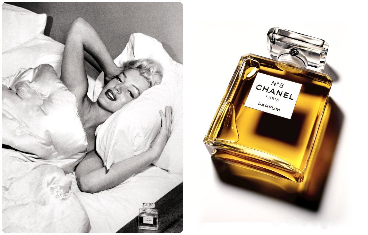 Мэрлин Монро, парфюмированная вода - Chanel N5